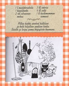 Muumimamman mustaviinimarja juoma Tove Jansson, Finnish Recipes, Reset Girl, Baking With Kids, Moomin, Recipe Cards, Smoothies, Food Porn, Food And Drink