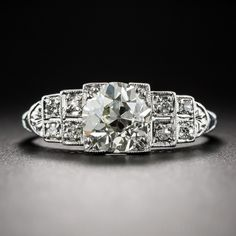 1.65 Carat Art Deco Diamond Engagement Ring, 8