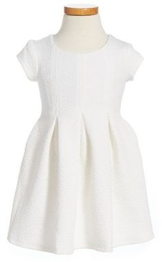Toddler Girl's Ivy & Ivy Texture Pleated Dress
