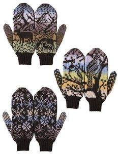 Woodland Winter Mittens - Knitting Patterns and Crochet Patterns from… Mittens Pattern, Knit Mittens, Mitten Gloves, Knitting Charts, Knitting Patterns, Crochet Patterns, Knitting Ideas, Knitting Projects, Crochet Projects