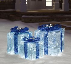 20 x Blue /& White LED Frosted Flower  Xmas Lights Clear Cable 3.8m