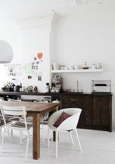 love the wooden kitchen furniture