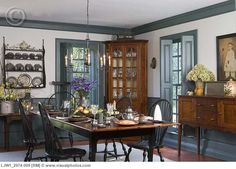 Colonial style dining room