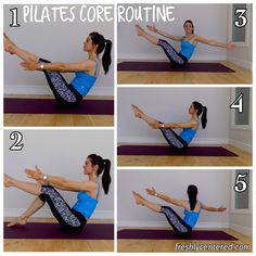 Pilates core routine! See the full info at www.freshlycentered.com