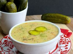 Dill Pickle Soup ~ Mmmmm so good can't wait for soup weather!