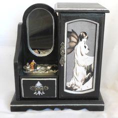Gothic Jewelry Box | Gothic Jewelry Box Flapper Vampire Vintage by NacreousAlchemy