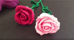 How To Crochet A Rose: Easy Crochet lessons to crochet flowers.