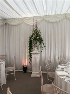 Wedding Pillar Arrangement