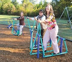 Religious Herald - Congregation takes adult exercise seriously as it adds new equipment to its community playground