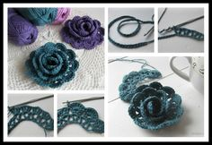 Lovely Lace Ribbon Rose Crochet Tutorial | UsefulDIY.com Follow us on Facebook ==> https://www.facebook.com/UsefulDiy