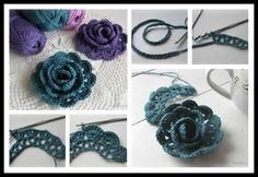 Lovely Lace Ribbon Rose Crochet Tutorial   UsefulDIY.com Follow us on Facebook ==> https://www.facebook.com/UsefulDiy