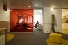 Google office--like the clear partitions something different than just clear glass