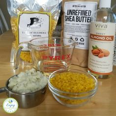Lotion bar ingredients - all you need to make your own lotion bars is beeswax, shea butter and sweet almond oil (or another oil)