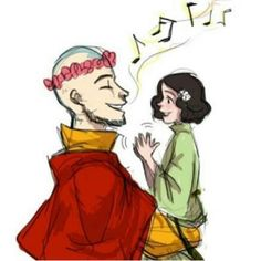 Awwww its aang and lin