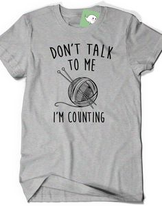 Funny Knitting Crochet T Shirt Tee Mens Womens Ladies by BoooTees