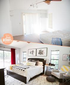 5 Tips for a Cozy Bedroom | A Rental Series on Fresh Mommy Blog | Before and After