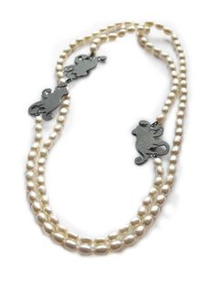 Marianne Anderson - Long Pearl Scroll Necklace