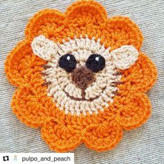 So jolly, it's Leo the lion! Rawr! brilliant #crochet from @pulpo_and_peach #crochetgirlgang