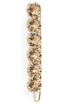 L.+Erickson+'Round+Jewel'+Swarovski+Crystal+Tige+Boule+Barrette+available+at+#Nordstrom