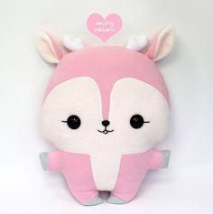 "Plushie Sewing Pattern PDF Cute Soft Plush Toy - Deer Fawn Stuffed Animal 14"""