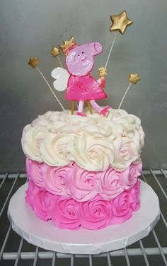 Peppa Pig smash cake ❤#oneyearold