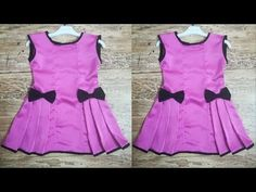 Beautiful kids top from left over fabric Kids Party Wear Dresses, Baby Girl Party Dresses, Baby Girl Frocks, Frocks For Girls, Kids Frocks Design, Baby Frocks Designs, Girls Dresses Sewing, Little Girl Dresses, Kids Blouse Designs