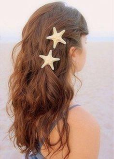 Starfish Bride Beach Wedding Surfer Hair Clip, 2014 Sliver Beach Wedding Hair Accessories www.loveitsomuch.com