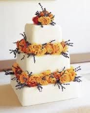 autumn wedding cake #