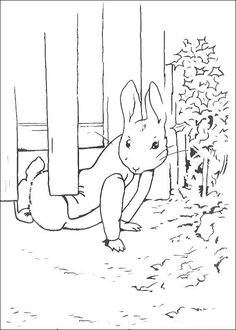 coloring page Peter Rabbit on Kids-n-Fun. Coloring pages of Peter Rabbit on Kids-n-Fun. More than coloring pages. At Kids-n-Fun you will always find the nicest coloring pages first! Easter Coloring Pages, Coloring Pages For Boys, Coloring Pages To Print, Coloring Book Pages, Kids Coloring, Peter Rabbit Party, Coelho Peter, Beatrix Potter Illustrations, Book Illustrations