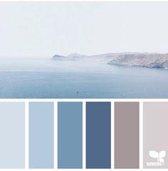 Accord Des Couleurs Palette Design Blue Color Schemes Colour Sea