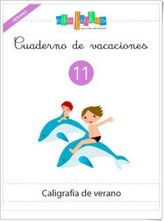 Cuaderno de vacaciones de verano 11 (Caligrafía de Verano) Montessori, Teacher, Map, School, Summer Vacations, Teaching Resources, Special Education, Educational Activities, Spanish Language