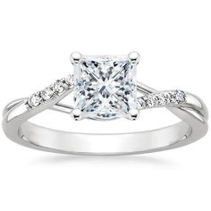 18K White Gold Chamise Diamond Ring from Brilliant Earth