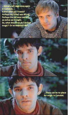 """""""There can be no place for magic in Camelot""""   Noooooooooooooooo!!!!"""