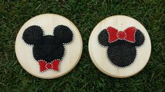 Mickey & Minnie Inspired String Art, available on Etsy! https://www.etsy.com/listing/204829800/mickey-minnie-mouse-inspired-string-art