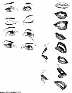 Women's Mouth/Eyes, aren't they sometimes the hardest thing to draw?