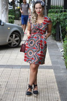 ethnic pattern dress / colorful