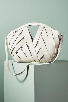 Slide View: 1: Woven Basket Bag