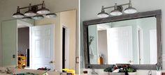 Trendy Bathroom Diy Mirror Frame How To Make 58 Ideas Bathroom Mirror Makeover, Bathroom Mirrors Diy, Diy Mirror, Master Bathroom, Bathroom Ideas, Mirror Ideas, Downstairs Bathroom, Vanity Bathroom, Bathroom Bath