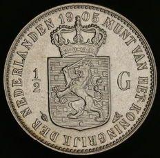 Nederland - ½ gulden 1905 Wilhelmina - zilver