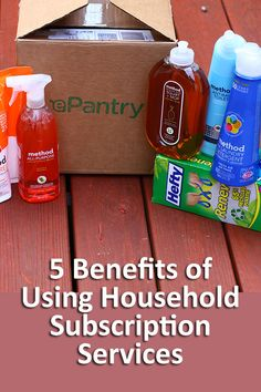 5 Benefits of Using Household Subscription Services including saving time and money! Also, get a free $10 credit to ePantry. A must-read. #organization #frugal #freebie #house