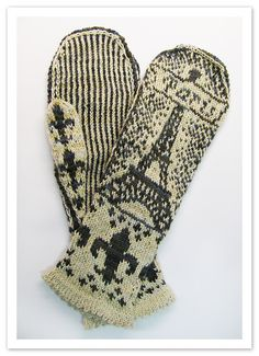 Ravelry: Paris Mittens pattern by Andrea Arbour - need to find someone who can knit these for me!
