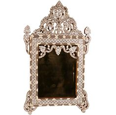 Antique Syrian Mother of Pearl Mirror