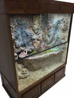 Custom Designed Terrarium for a Mangrove Monitor http://www.dasaquariums.com/collections/reptile-enclosures/products/terrarium-mangrove-monitor