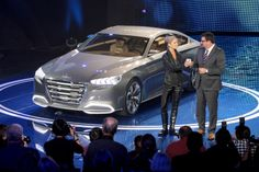 """We instilled HCD-14 Genesis with a premium-sport 4-door coupe road presence,"" said Christopher Chapman, chief designer, Hyundai Design North America."