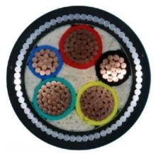 Rated voltage 0.6/1kV AL/CU conductor 5 core 25mm XLPE insulated steel wire armored power cable