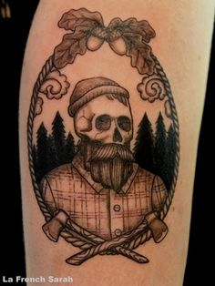 Lumberjack Tattoos by La French Sarah