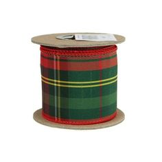 Lovely red green tartan patterned ribbon. You can use this ribbon for so many fun projects the possibilities are endless. Wired edges make this ribbon perfect for bows, curls, floral projects, decorat