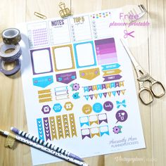 Pleasantly Plum Planner Stickers - Free Printable [for personal use only]