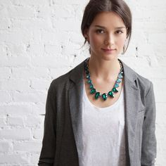 Statement necklaces are great with a basic white tee! Shop www.chloeandisabel.com/boutique/angieleigh