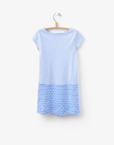 Sunshine Blue Wave Stripe Hotch Potch Dress | Joules US